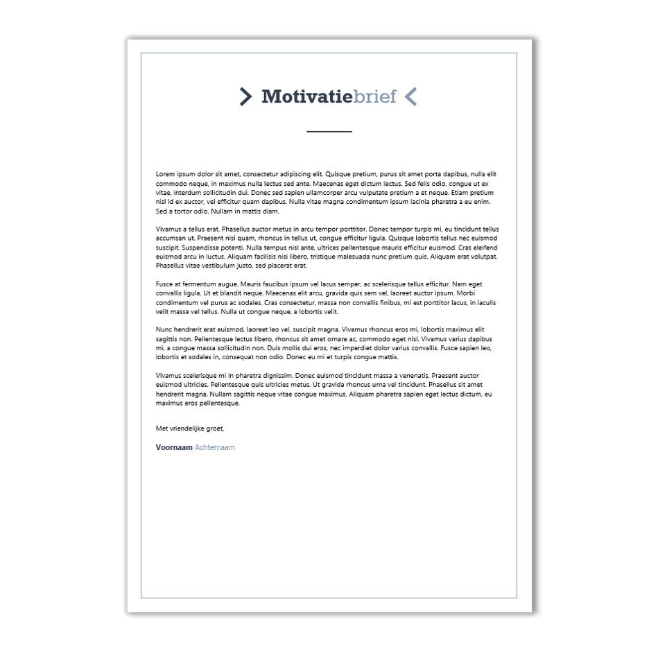 Verrassend Neutraal en basic template - €7,95 | CV-voorbeelden.nl JQ-85
