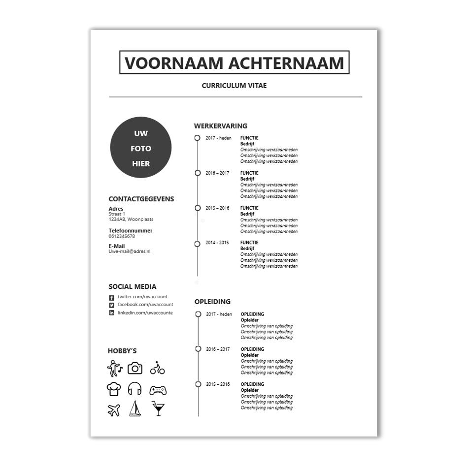voorbeeld cv Met dit modern CV template word je sowieso uitgenodigd! | CV