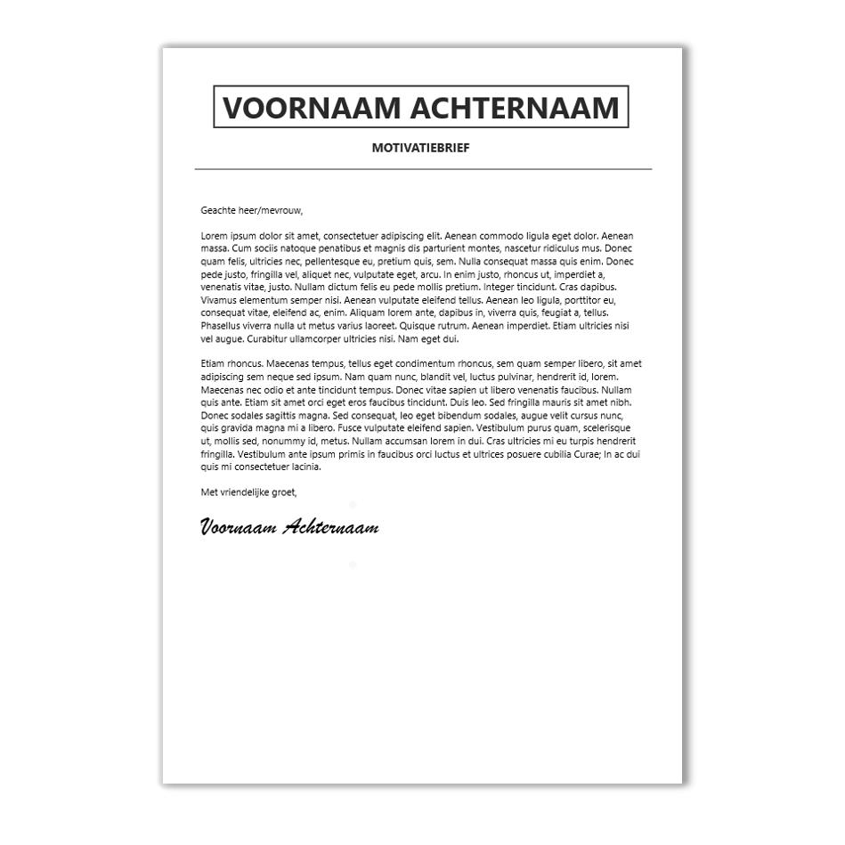 Welp Creatief en modern CV sjabloon - €7,95 | CV-voorbeelden.nl PW-84
