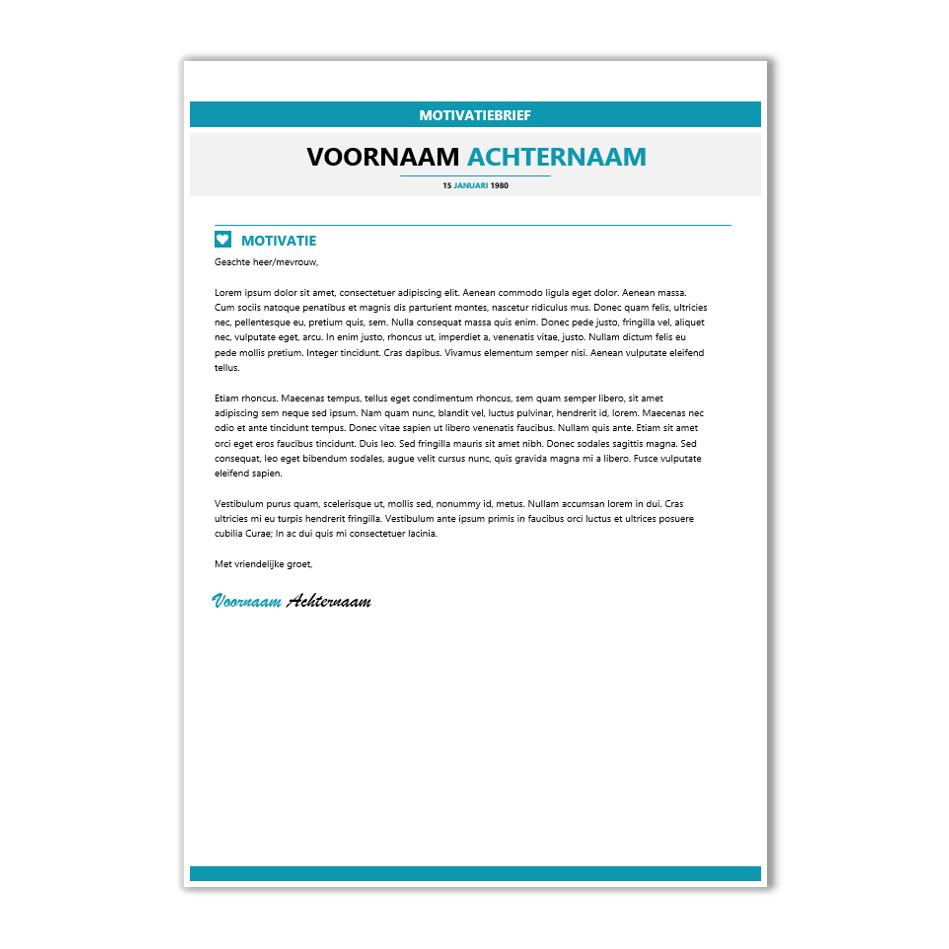 sjabloon motivatiebrief Download CV voorbeeld 23   CV template   CV voorbeelden.nl