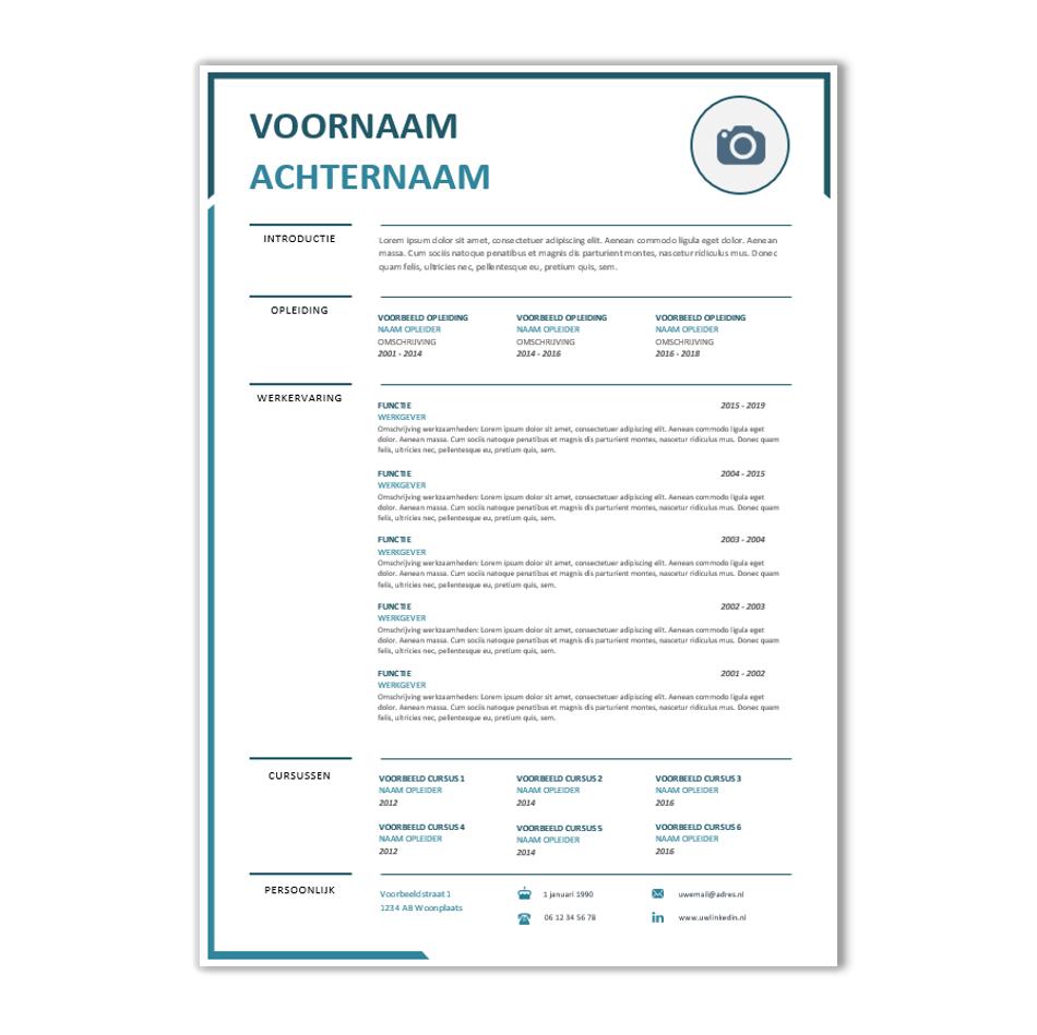 word cv maken Modern CV maken? Download hier een kant & klaar CV voorbeeld | CV