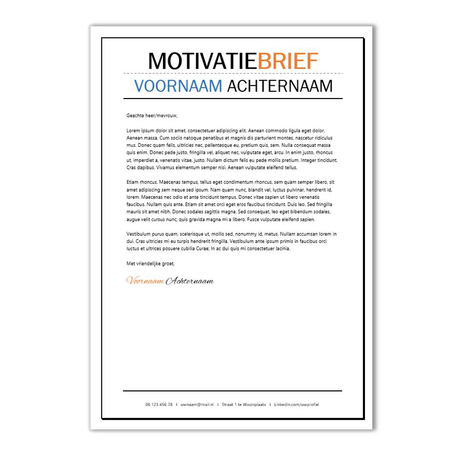 originele motivatiebrief voorbeeld Creatief CV opmaak template Word | CV voorbeelden.nl