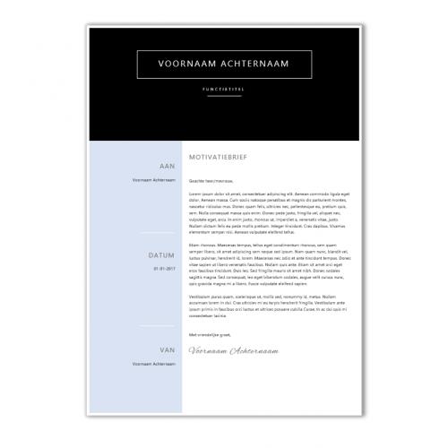 Voorbeeld CV template 98c