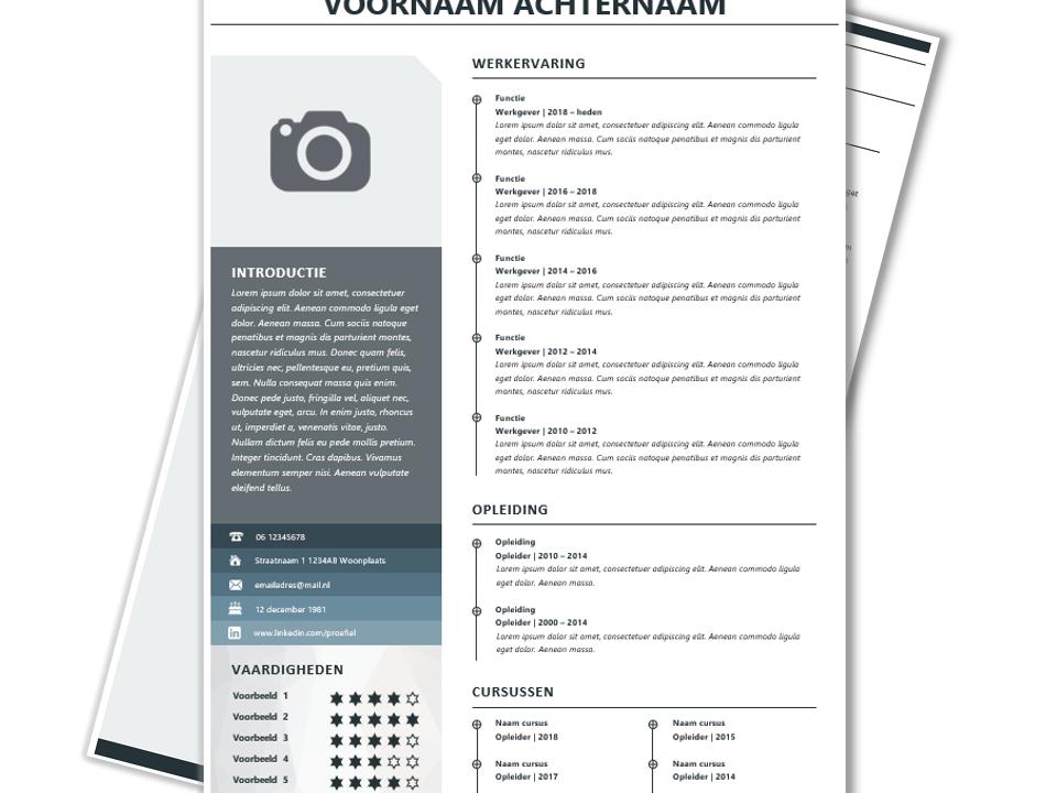 Modern CV sjabloon 1